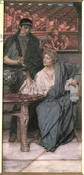 The Roman Wine-Tasters (watercolour)