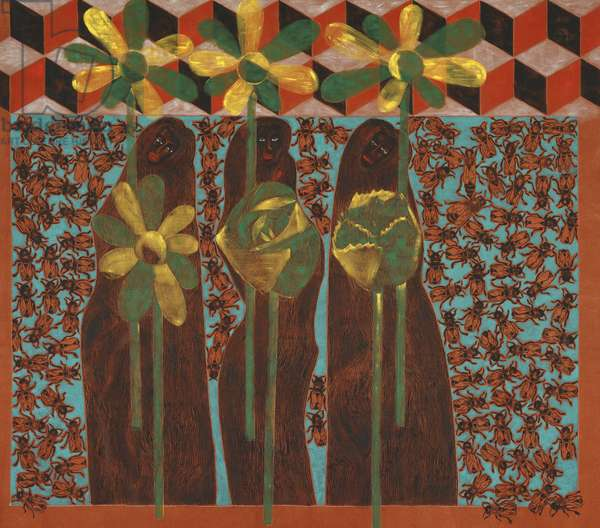 Three Out of Nine, 1988 (pigment on linen)