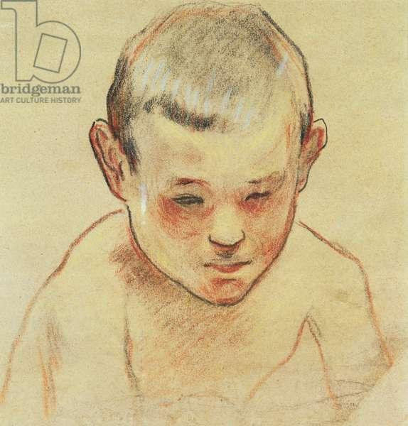 Head of a Boy, c.1886-88 (pastel, w/c on paper)