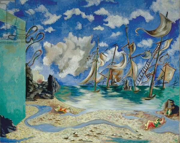 La côte de Bretagne, 1935 (oil on canvas)