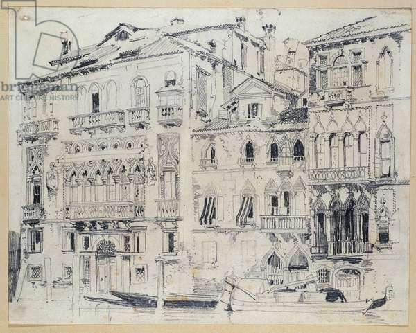 The Grand Canal, Venice, c.1826 (pencil)