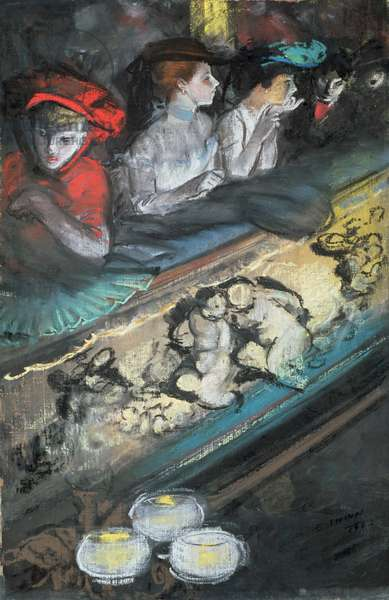 In the Box, 1903 (oil & pastel on canvas)