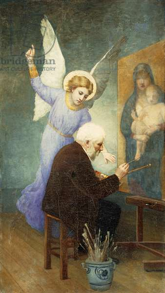 In Memory of Bouguereau; Souvenir de Bouguereau,  (oil on canvas)
