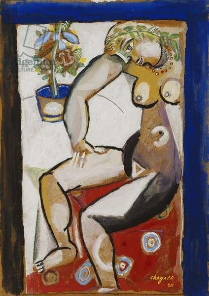 Nude Sitting, 1911