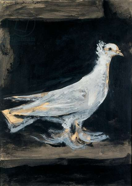The Dove, 1942 (gouache, brush & pen and ink on paper)