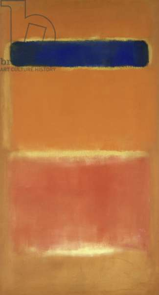 Blue Over Red, 1953 (oil on canvas)