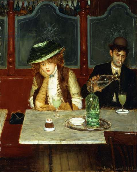 The Absinthe Drinkers, 1908 (oil on canvas)