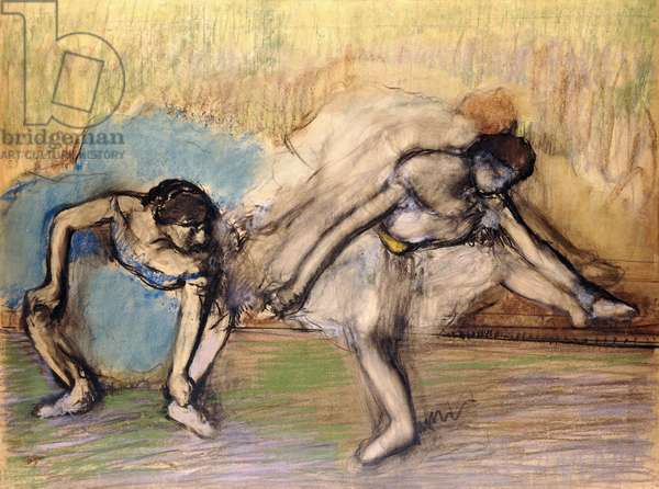 Dancers at Rest, c.1896 (pastel and charcoal on paper laid down on board)