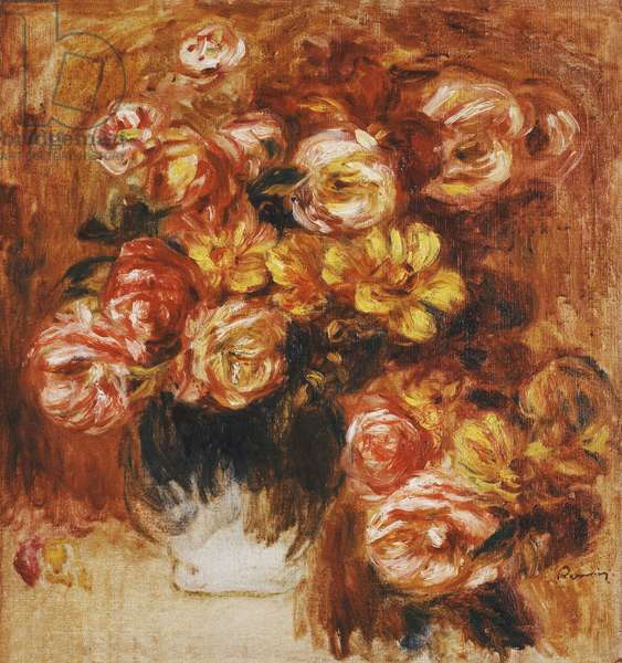Vase of Roses; Vase de Roses,  (oil on canvas)
