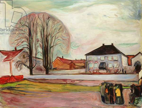 House in Aasgaardstrand, 1905 (oil on canvas)