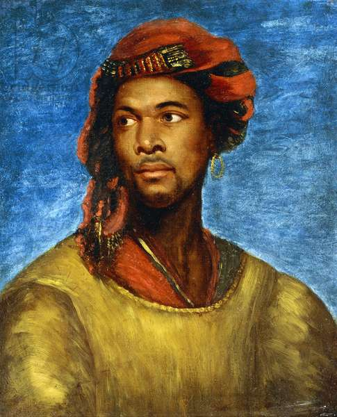 Portrait of a Moor with a Red Turban (oil on canvas)