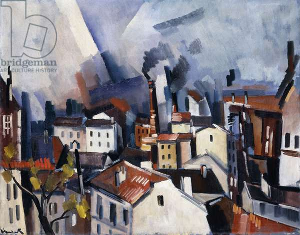 Suresnes, 1919 (oil on canvas)