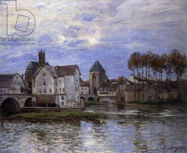 Pont de Moret at Sunset; Le Pont de Moret au Soleil Couchant, 1892 (oil on canvas)