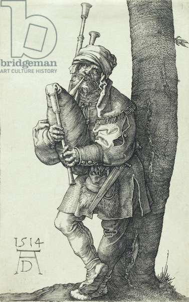 The Bagpiper, 1514 (copper engraving)