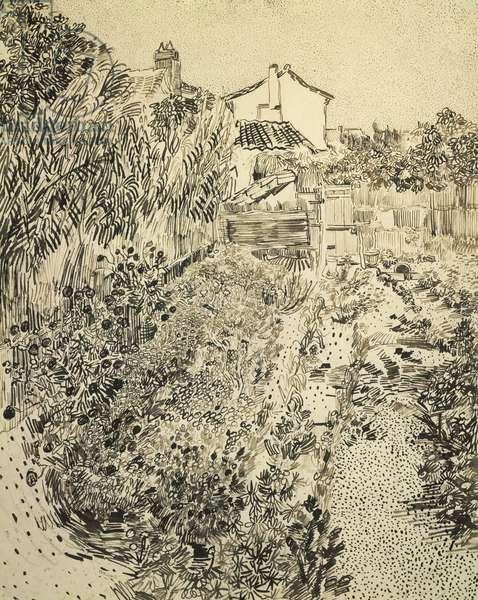 The Flower Garden, 1888 (black ink over pencil on paper)