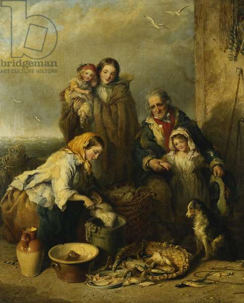 The Fisherman's Family, 1861 (oil on canvas)