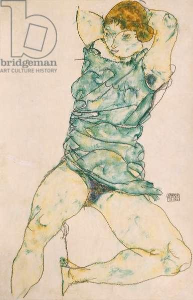 Reclining Girl, 1914 (gouache & pencil on buff paper)