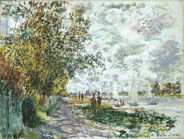 La Berge du Petit-Gennevilliers, c.1875 (oil on canvas)