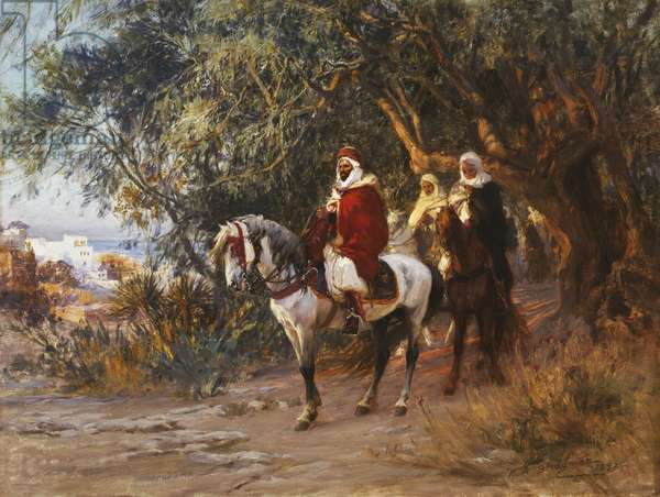 Arabs on Horseback, 1892 (oil on canvas)