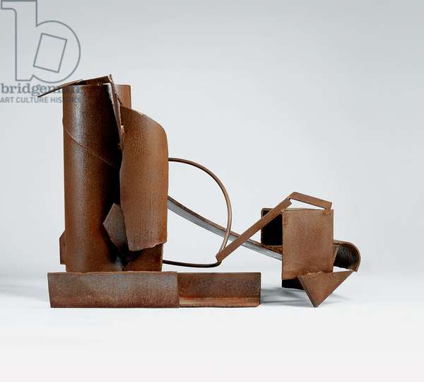 Table piece 2-90 (EBB), 1982 (rusted and varnished steel)