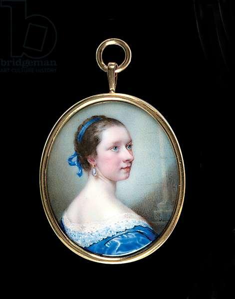 Lydia Garner, 1753 (enamel on copper)