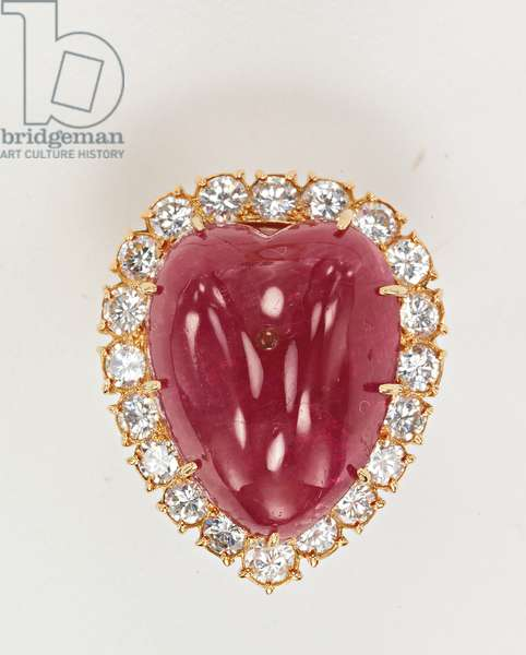 Ring, given to Jackie Kennedy by Aristotle Onassis (rubies, diamonds & gold)