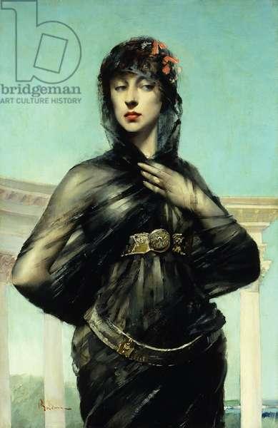 The Black Veil,  (oil on canvas)