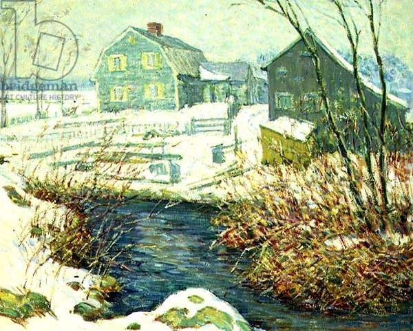 A Stream by the Farm, c.1916-17 (oil on canvas)