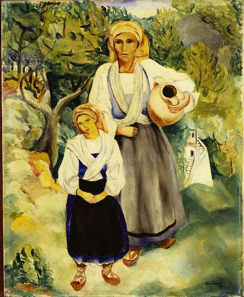 Italian Peasants, 1920 (oil on canvas)
