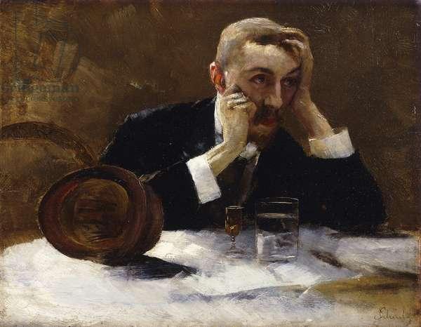 Late Self-Portrait; Spates Selbstbildnis, (oil on board)