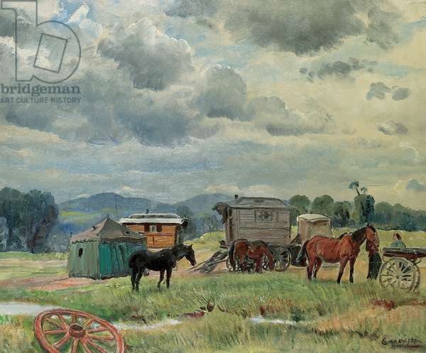 Gypsy camp, c.1938 (oil on canvas)