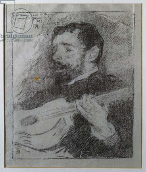 Guitarist, 1889 (charcoal on paper)