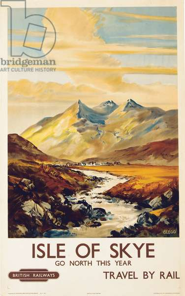 Isle of Skye (colour litho)