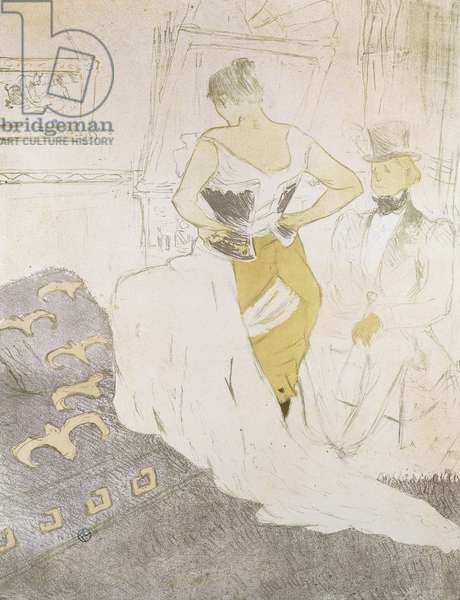 Woman in a Corset, from Elles; Femme en Corset, from Elles, 1896 (lithograph)
