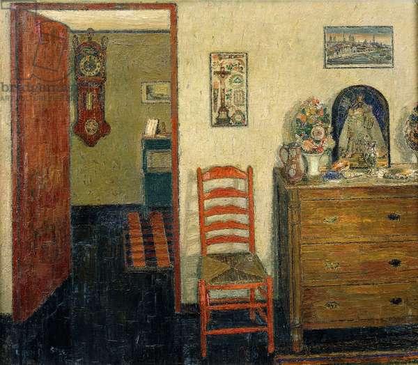 Bungalow Interior; L'Interieur de la Chaumiere - Bungalowinterieur, 1946 (oil on canvas)