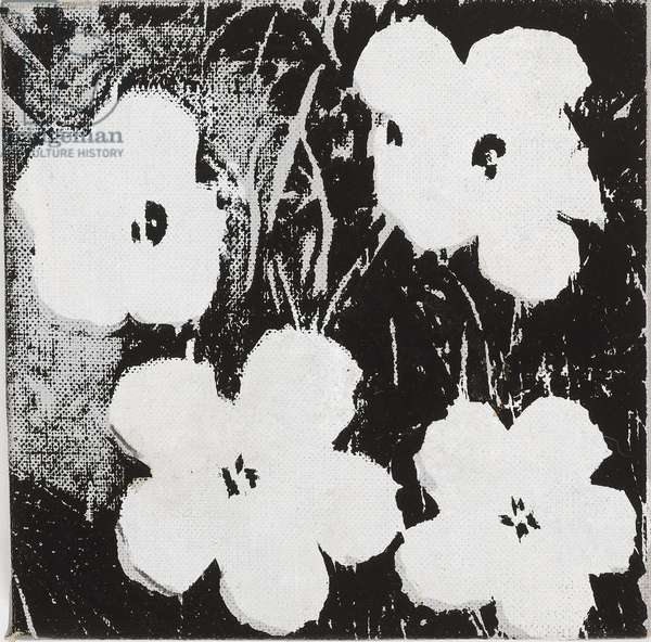 Flowers, 1964 (synthetic polymer & silkscreen ink on canvas)