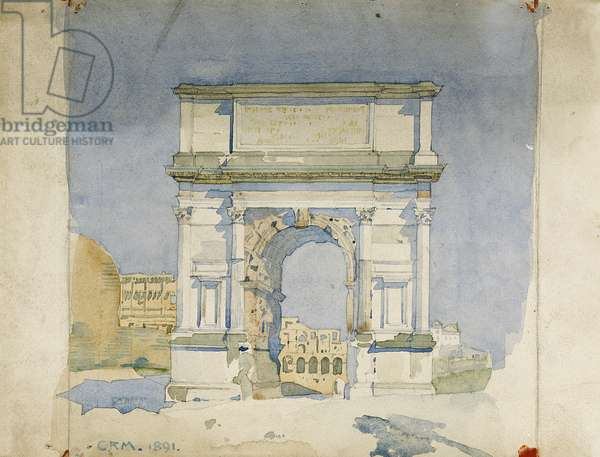 Arch of Titus, Rome, 1891 (pencil & w/c on paper)