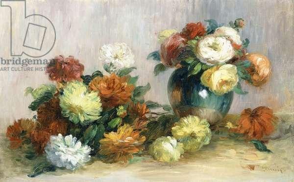 Flower Wreaths, c.1880 (oil on canvas)
