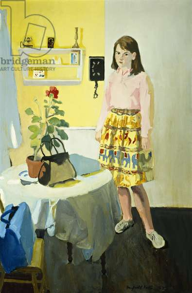 Girl and Geranium, 1963, 1963 (oil on canvas)