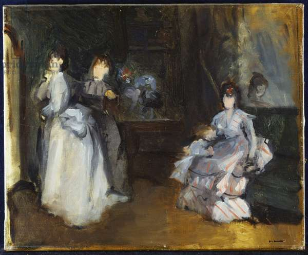 Interior of a Milliner (oil on canvas)