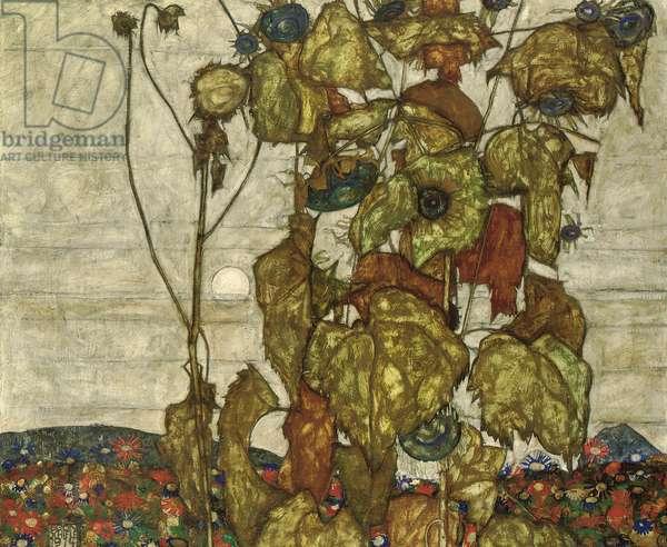 Autumn Sun (oil on canvas)