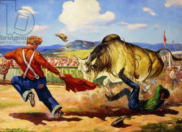 Rodeo Riders Don't Quit,  (oil on canvas)