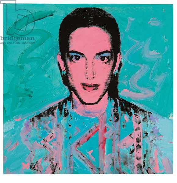 Katie Jones, 1973 (synthetic polymer & silkscreen inks on canvas)