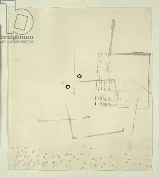 Auch Hier Ein Gesicht, 1935 (w/c on paper)
