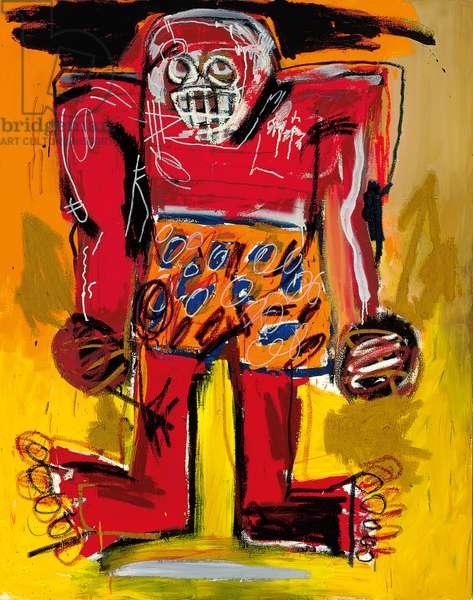 Sugar Ray Robinson, 1982 (acrylic & oil stick on canvas)