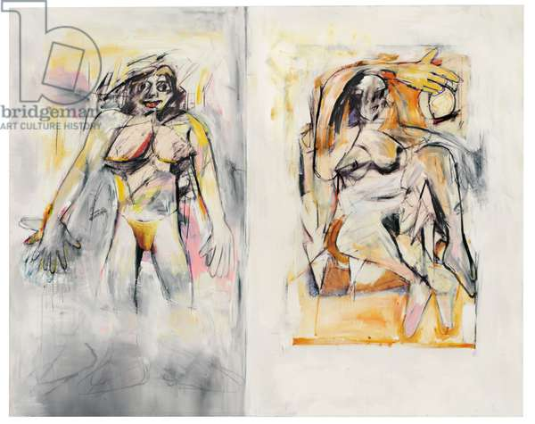 Untitled (de Kooning), 2006 (acrylic, charcoal and inkjet print on canvas)