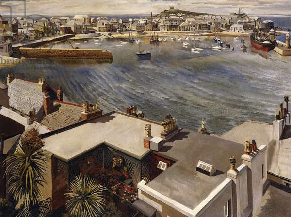 The Harbour, St Ives, 1937 (oil on canvas)