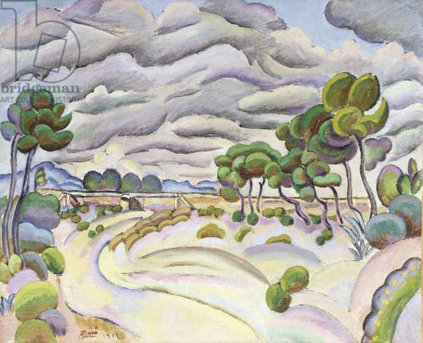 Montroig, The River, 1917 (oil on canvas)