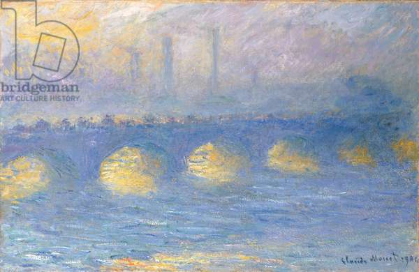 Waterloo Bridge, temps couvert, 1904 (oil on canvas)