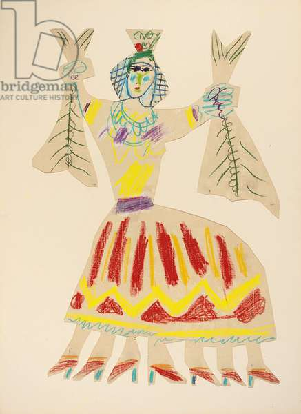 La chumbera, 1963 (wax crayon on cut-out paper)